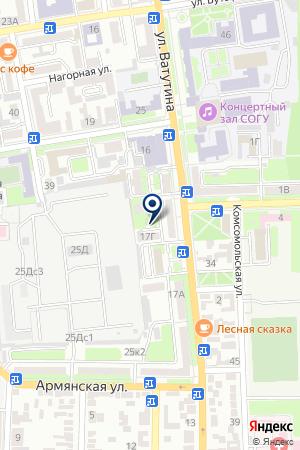 АКБ АДАМОН-БАНК на карте Владикавказа