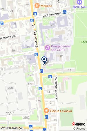 АДВОКАТСКИЙ КАБИНЕТ МАРГИЕВА Н.В. на карте Владикавказа