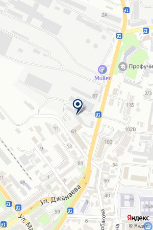 АЗС АДМИРАЛ на карте Владикавказа