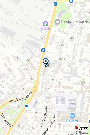 АЗС ОЛИМП на карте Владикавказа