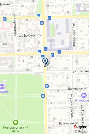 АЗС № 7 РОСНЕФТЬ-АРТАГ на карте Владикавказа