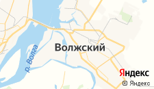 Гостиницы города Волжский на карте