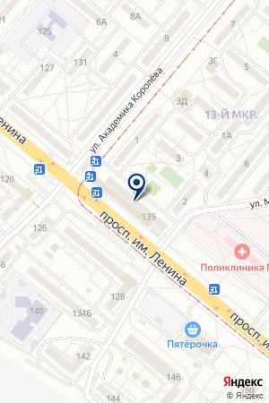 МАГАЗИН АВТОЗАПЧАСТЕЙ ВИРАЖ на карте Волжского