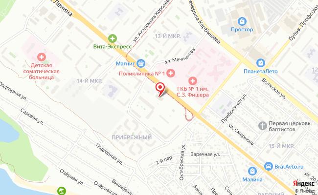 Карта расположения пункта доставки Lamoda/Pick-up в городе Волжский