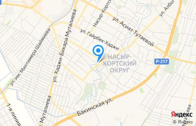 Местоположение на карте пункта техосмотра по адресу Респ Ингушетия, г Назрань, тер Насыр-Кортский округ, пер Кабардинский, д 1А