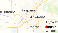 Отели города Назрань на карте