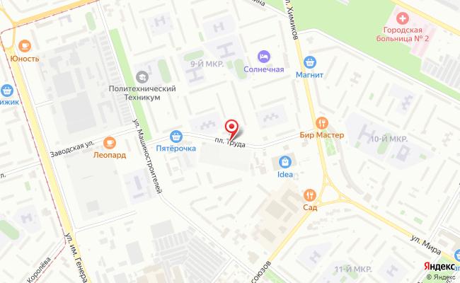 Карта расположения пункта доставки Халва в городе Волжский