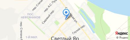 Светлоярская средняя общеобразовательная школа №1 на карте Светлого Яра