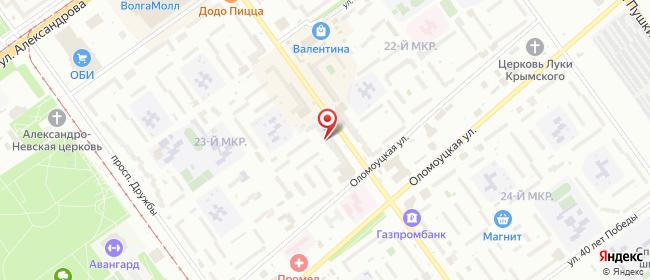 Карта расположения пункта доставки Билайн в городе Волжский