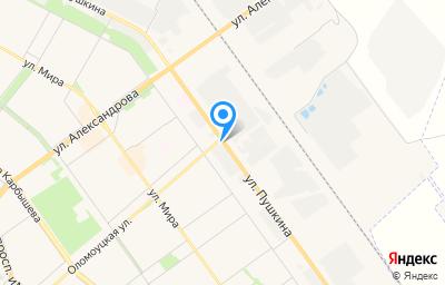 Местоположение на карте пункта техосмотра по адресу Волгоградская обл, г Волжский, ул Пушкина, д 95В