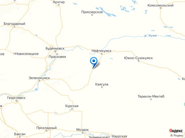село Ачикулак на карте