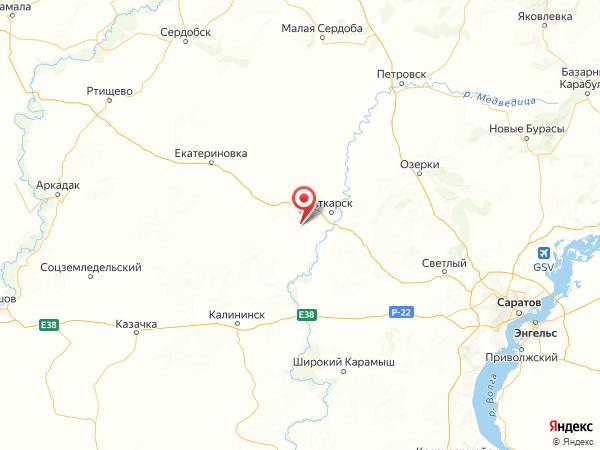село Елизаветино на карте