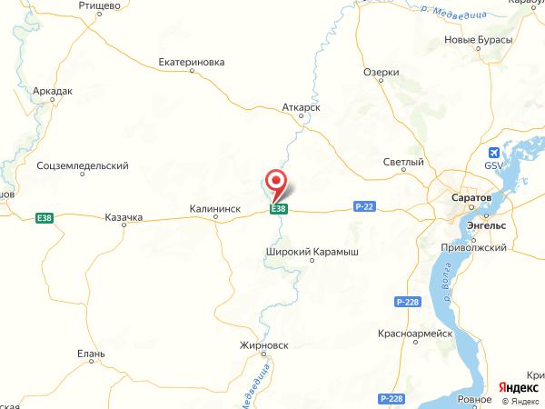 поселок городского типа Лысые Горы на карте