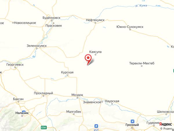 хутор Коммаяк на карте