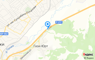 Местоположение на карте пункта техосмотра по адресу Респ Ингушетия, Назрановский р-н, с Гази-Юрт, д 29, кв 576