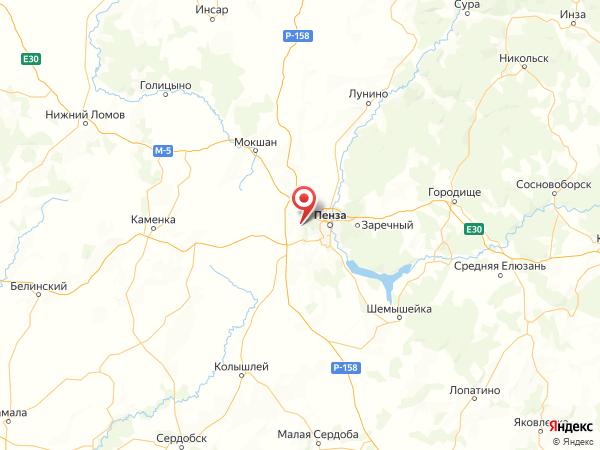 село Малая Валяевка на карте