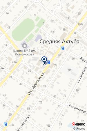 Киоск по продаже цветов на карте Средней Ахтубы