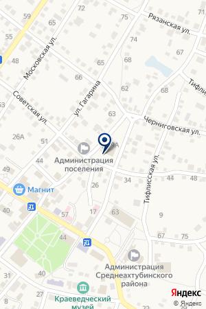 Киоск фастфудной продукции на карте Средней Ахтубы