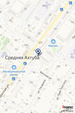 Банкомат, АКБ Авангард на карте Средней Ахтубы