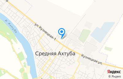 Местоположение на карте пункта техосмотра по адресу Волгоградская обл, рп Средняя Ахтуба, ул Кузнецкая-1, д 9А