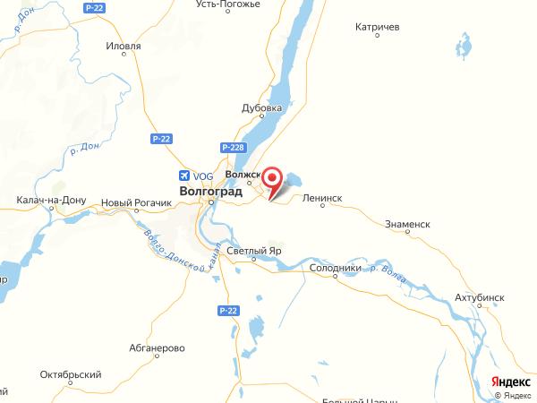 рабочий поселок Средняя Ахтуба на карте