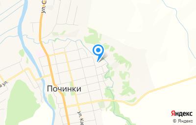 Местоположение на карте пункта техосмотра по адресу Нижегородская обл, с Починки, ул Новая, зд 97