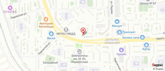 Карта расположения пункта доставки Пенза Строителей в городе Пенза