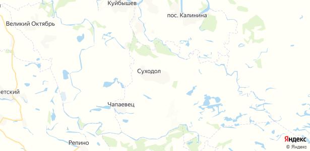 Суходол на карте
