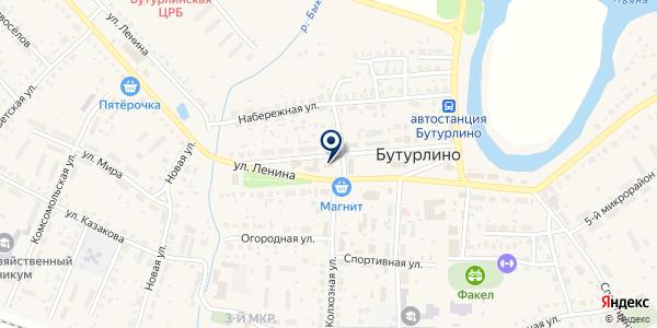 НОТАРИУС ОГУРЦОВА О.М. на карте Бутурлино
