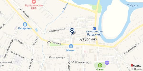 ТФ БУТУРЛИНСКАЯ СЕЛЬХОЗТЕХНИКА на карте Бутурлино