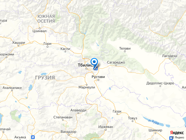 Тбилиси на карте