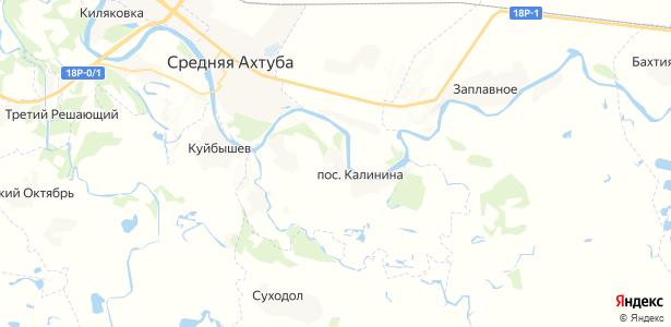 Калинина на карте