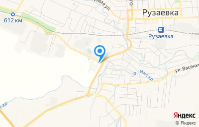 Местоположение на карте пункта техосмотра по адресу Респ Мордовия, г Рузаевка, ул Строительная, д 2