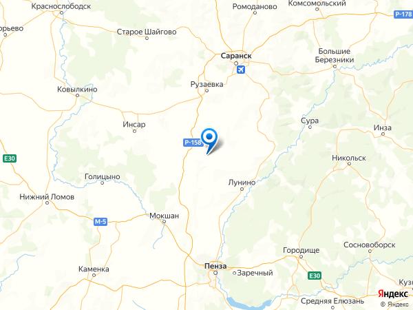 село Анучино на карте