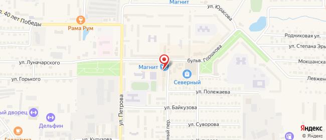 Карта расположения пункта доставки Рузаевка Фабричный в городе Рузаевка
