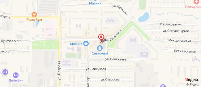 Карта расположения пункта доставки СИТИЛИНК в городе Рузаевка