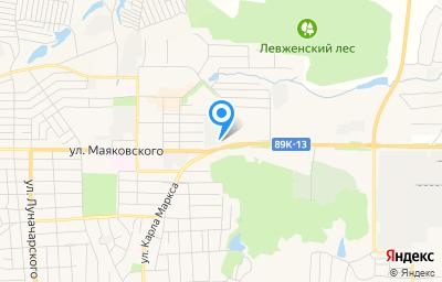 Местоположение на карте пункта техосмотра по адресу Респ Мордовия, г Рузаевка, ул Маяковского, д 173