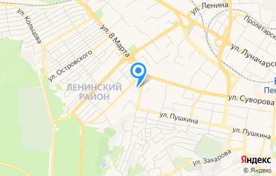 Местоположение на карте пункта техосмотра по адресу г Пенза, ул Бекешская, д 2Б/1Б
