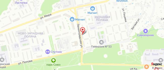 Карта расположения пункта доставки Пенза Ленинградская в городе Пенза