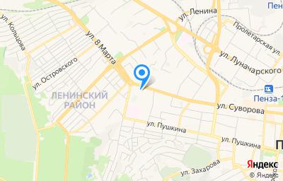 Местоположение на карте пункта техосмотра по адресу г Пенза, ул Суворова, стр 223