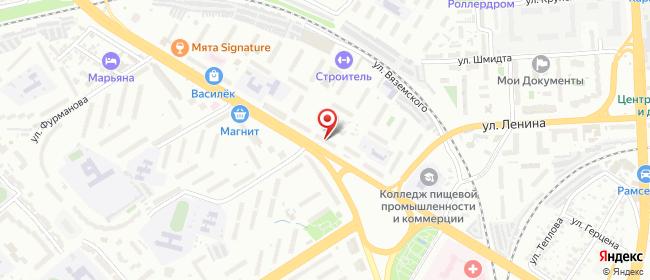 Карта расположения пункта доставки Пенза Победы в городе Пенза