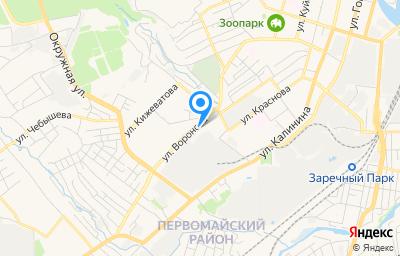 Местоположение на карте пункта техосмотра по адресу г Пенза, ул Воронова, д 5