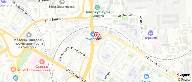Карта расположения пункта доставки Пенза Мельничная в городе Пенза