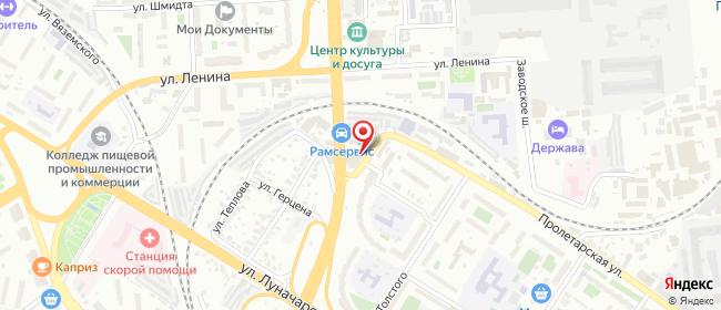 Карта расположения пункта доставки 220 вольт в городе Пенза