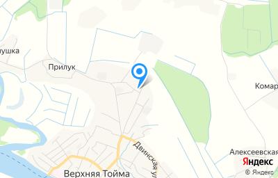 Местоположение на карте пункта техосмотра по адресу Архангельская обл, с Верхняя Тойма, ул Ломоносова