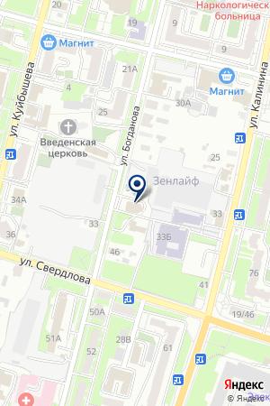 АГЕНТСТВО НЕДВИЖИМОСТИ АТЛАС на карте Пензы