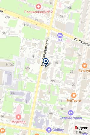 АВГУСТ-ПЛЮС на карте Пензы