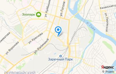 Местоположение на карте пункта техосмотра по адресу г Пенза, проезд Металлистов, влд 1