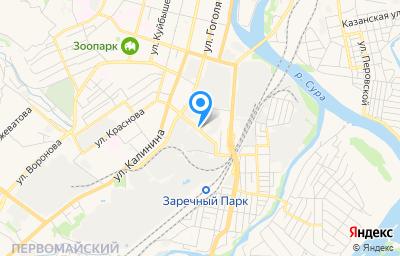 Местоположение на карте пункта техосмотра по адресу г Пенза, проезд Металлистов, д 1