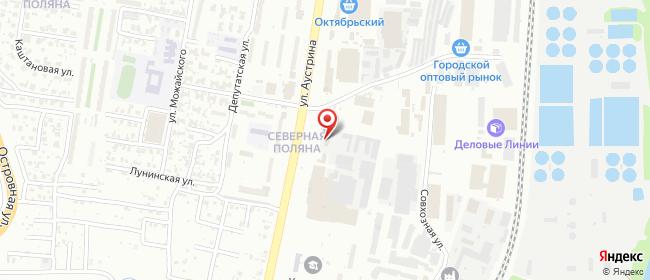 Карта расположения пункта доставки DPD Pickup в городе Пенза